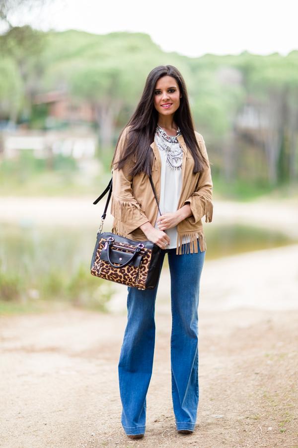 Chaqueta de flecos fringed jacket Crimenes de la moda