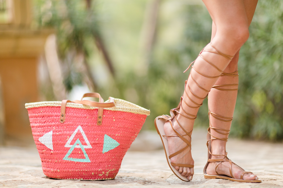 boho beach style look The Extreme Collection Sandalias gladiadoras cordones Zara Crimenes de la Moda
