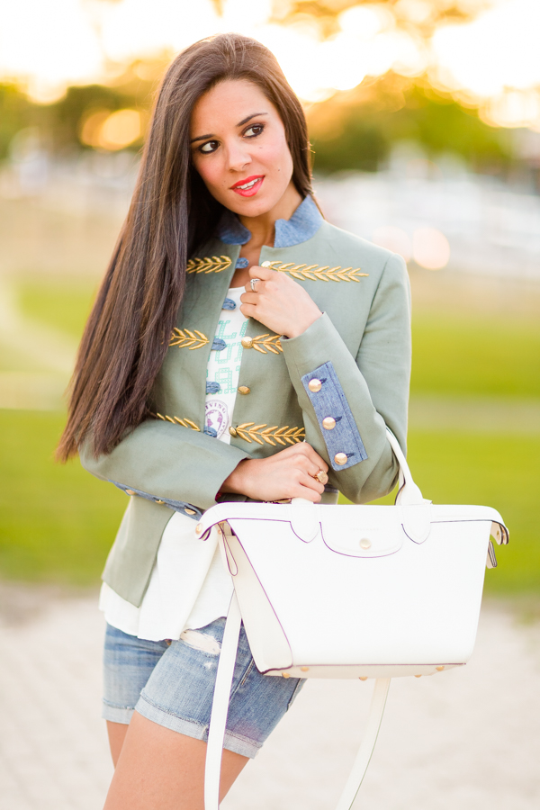 Chaqueta militar verde The Extreme Collection Bolso Le Pliage Longchamp Crimenes de la Moda