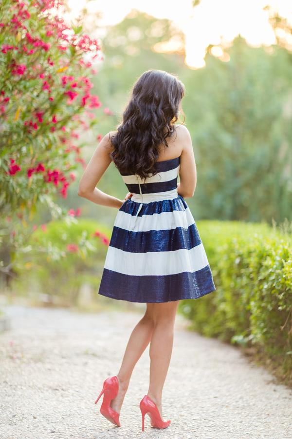 Mi pedida de mano de Nihil Obstat vestido rayas navy Crimenes de la Moda