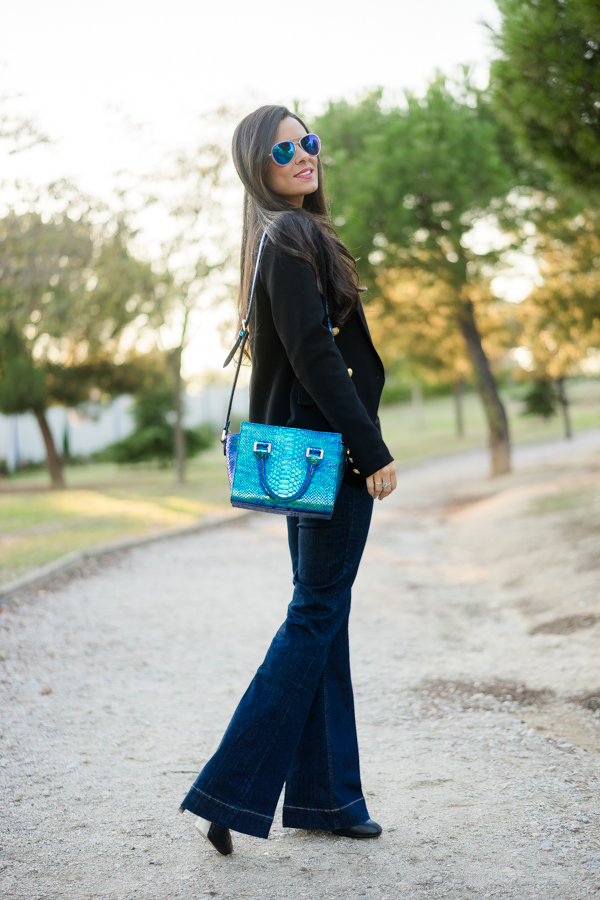 Jeans Working Look para ir a trabajar Miss Guided bolso metalizado & Other Stories Crimenes de la Moda