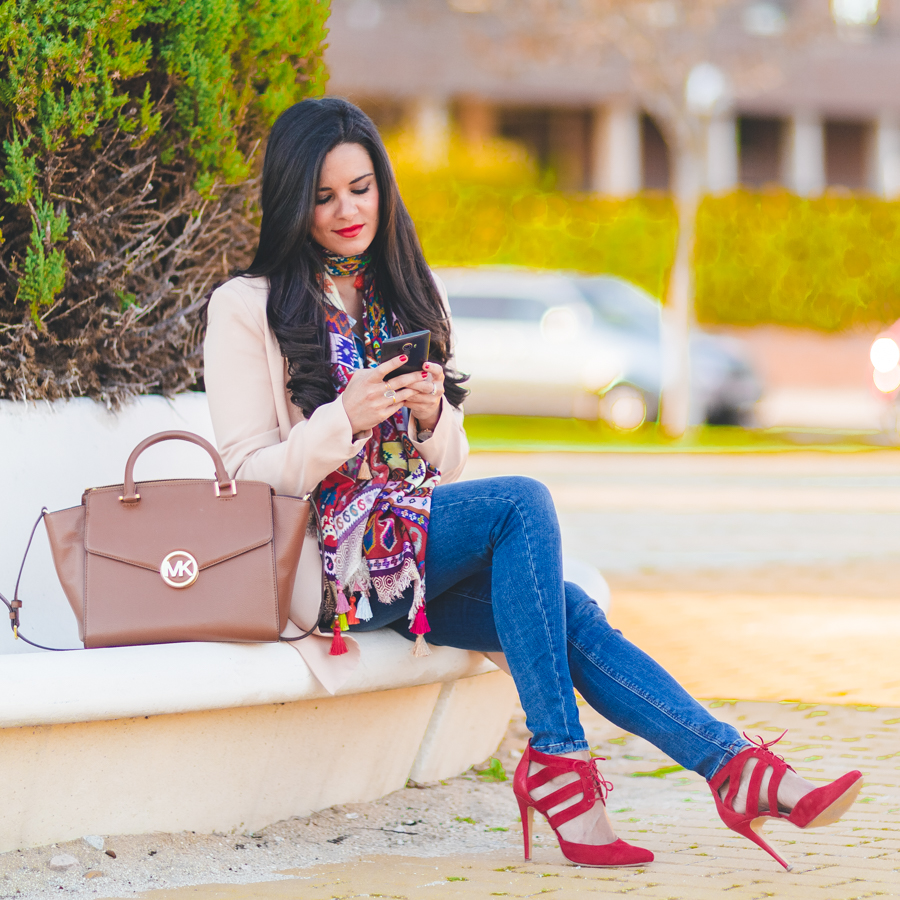 Zapatos diseñados por mi con Keli&Salo Shoes designed by me bolso Michael Kors bag blazer Missguided Jeans Zara Crimenes de la Moda blog Maria Jesus Garnica Navarro