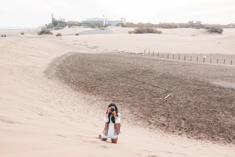 Canary Islands dunas de Maspalomas Gran Canaria Crimenes de la Moda blog Maria Jesus Garnica Navarro