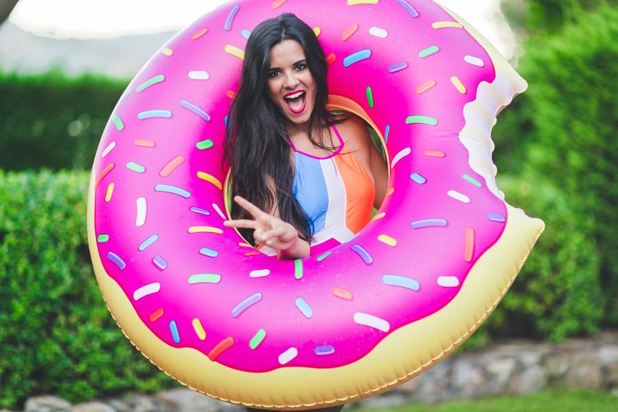 Sorteo de verano hinchables Pink Gold Madrid flotador donut rosa