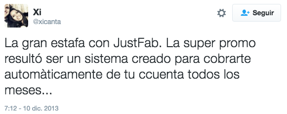 la estafa de JustFab
