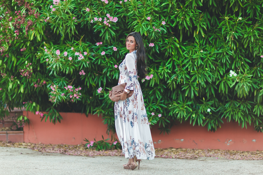 Vestido camisero largo long shirt dress bolso See by Chloe handbag Crimenes de la Moda blog Maria Jesus Garnica Navarro