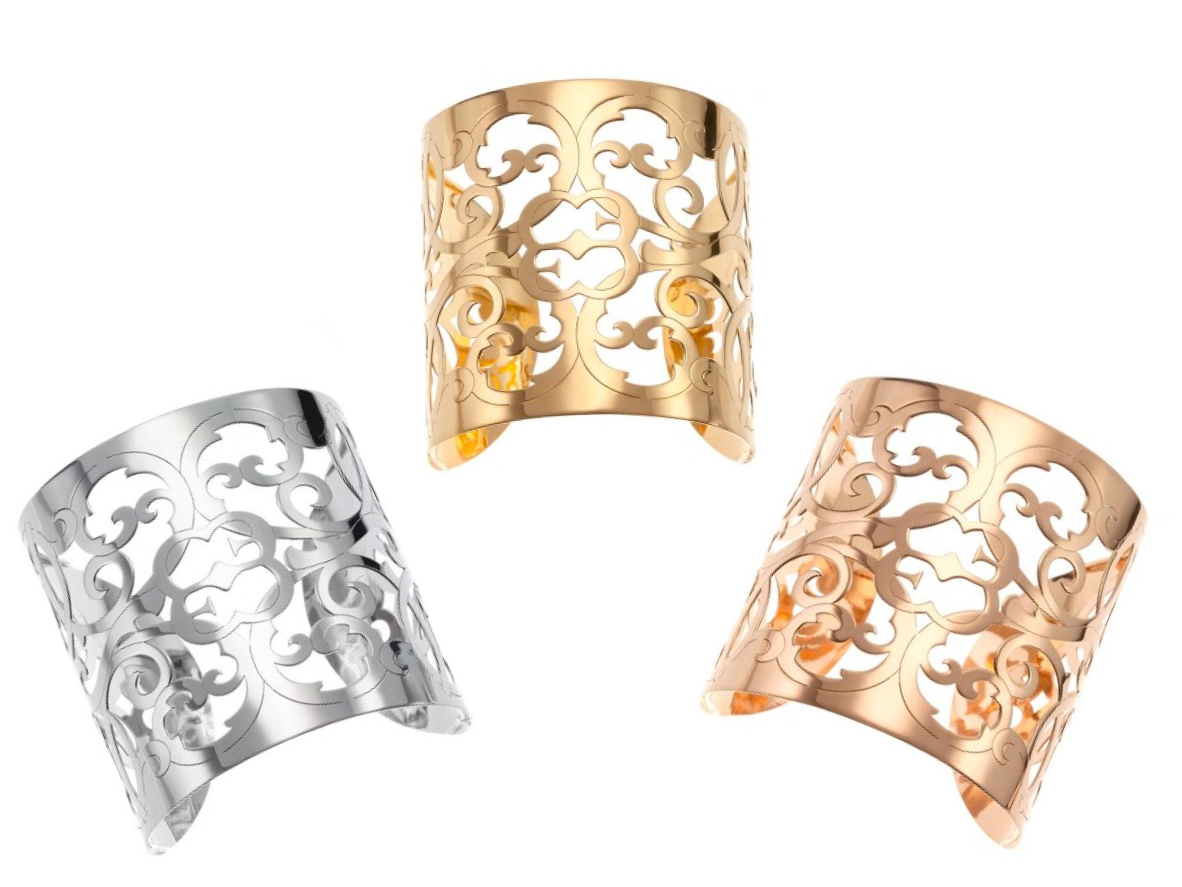 brazaletes celosias oro rosa oro amarilo oro blanco 18k Elena C