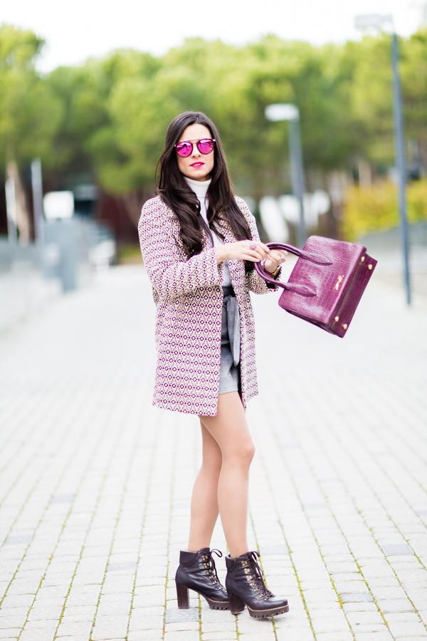 Shopping look abrigo Mango coat bolso Bimba y Lola botines Pedro Miralles boots Crimenes de la Moda blog Maria Jesus Garnica Navarro