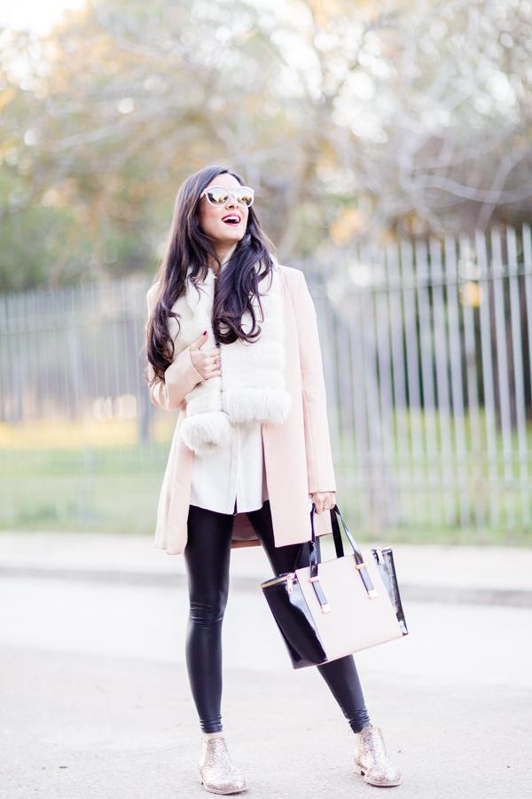 Dust pink look rosa nude bolso Ted Baker Crimenes de la Moda blog Maria Jesus Garnica Navarro