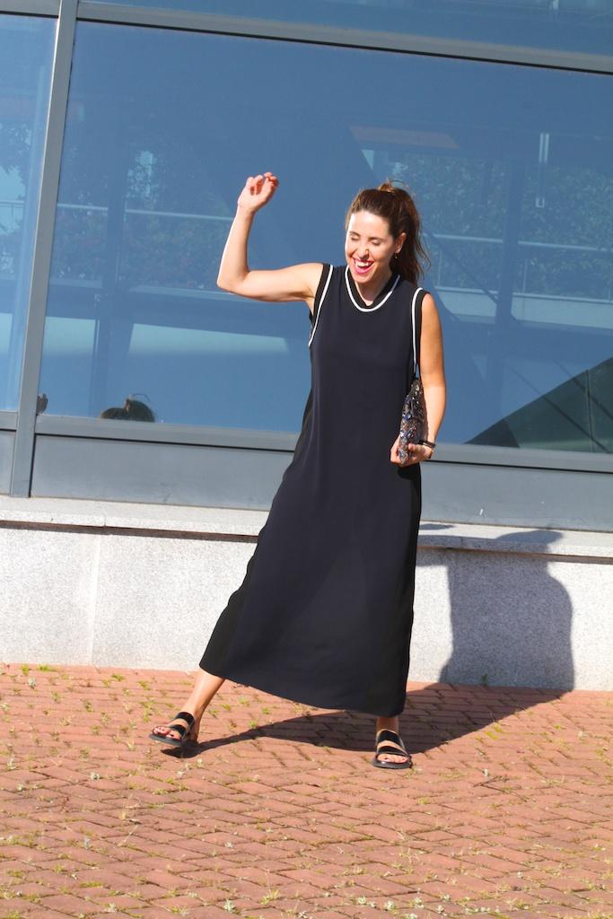 zara studio dress +bio sandal