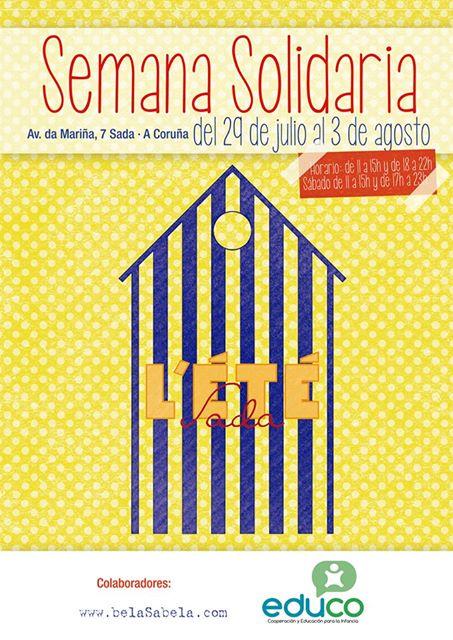 cartel semana solidaria L'ETE
