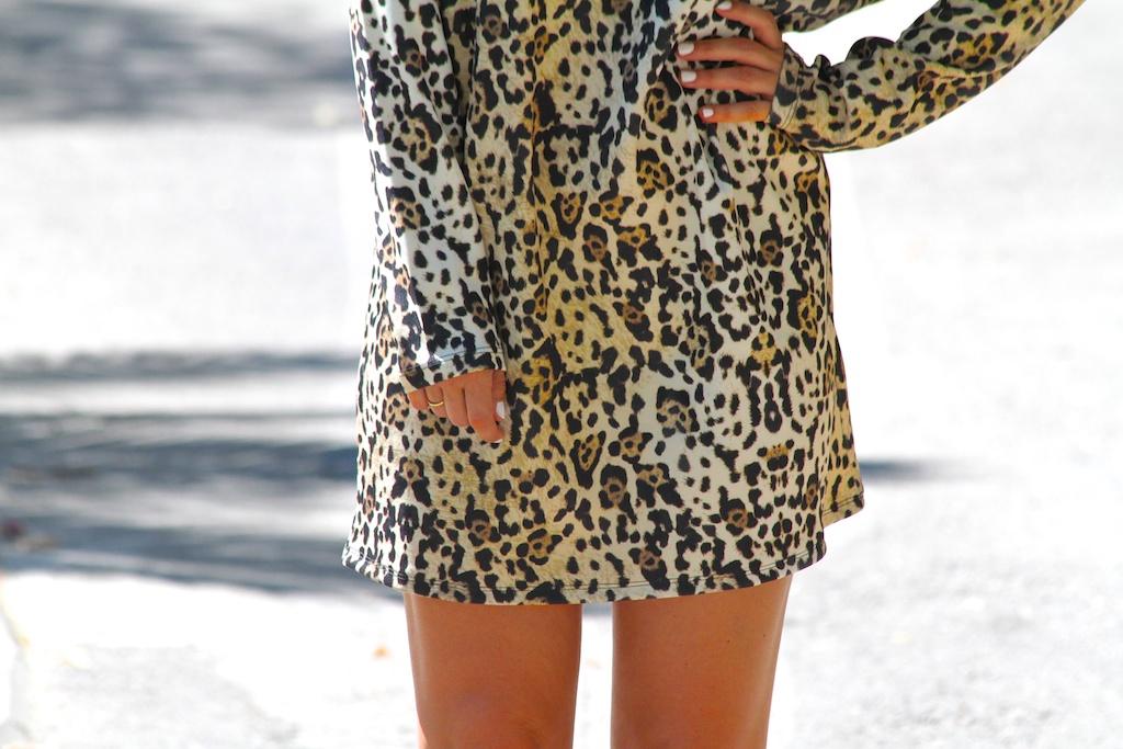 leopard dress.ZARA.descalzaporelparque