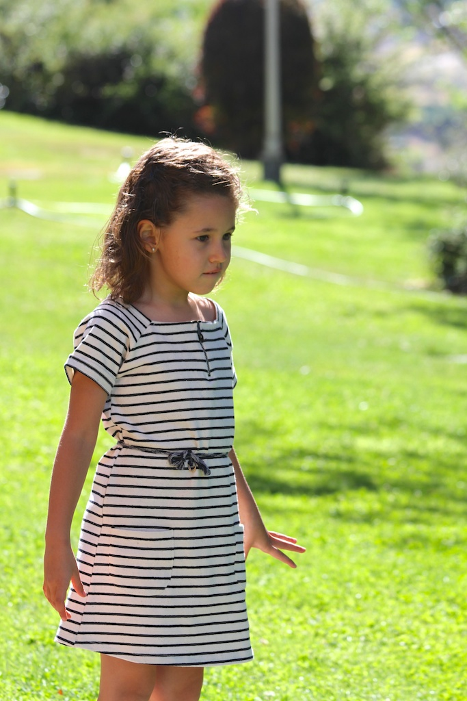 striped dress .kids.descalzaporelparque