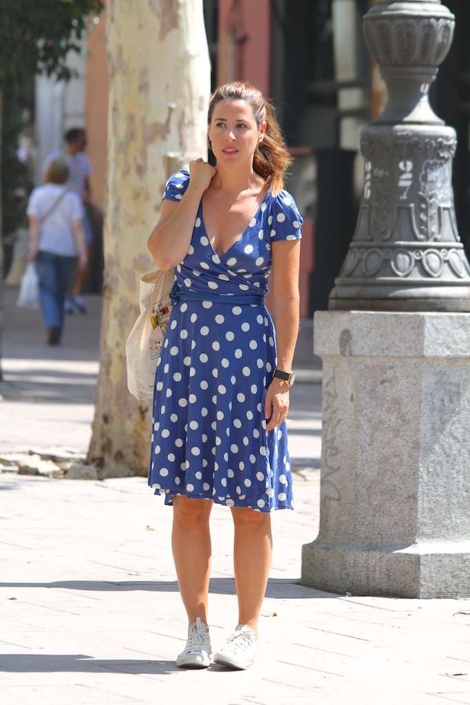 ZARA polka dots dress+converse.descalzaporelparque
