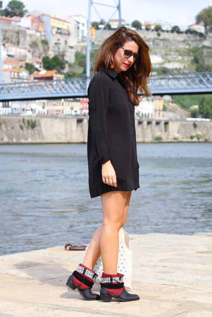 short,VILA,black,fashion,streetstyle,stylelovely,boots,cèline sunglasses, descalzaporelparque