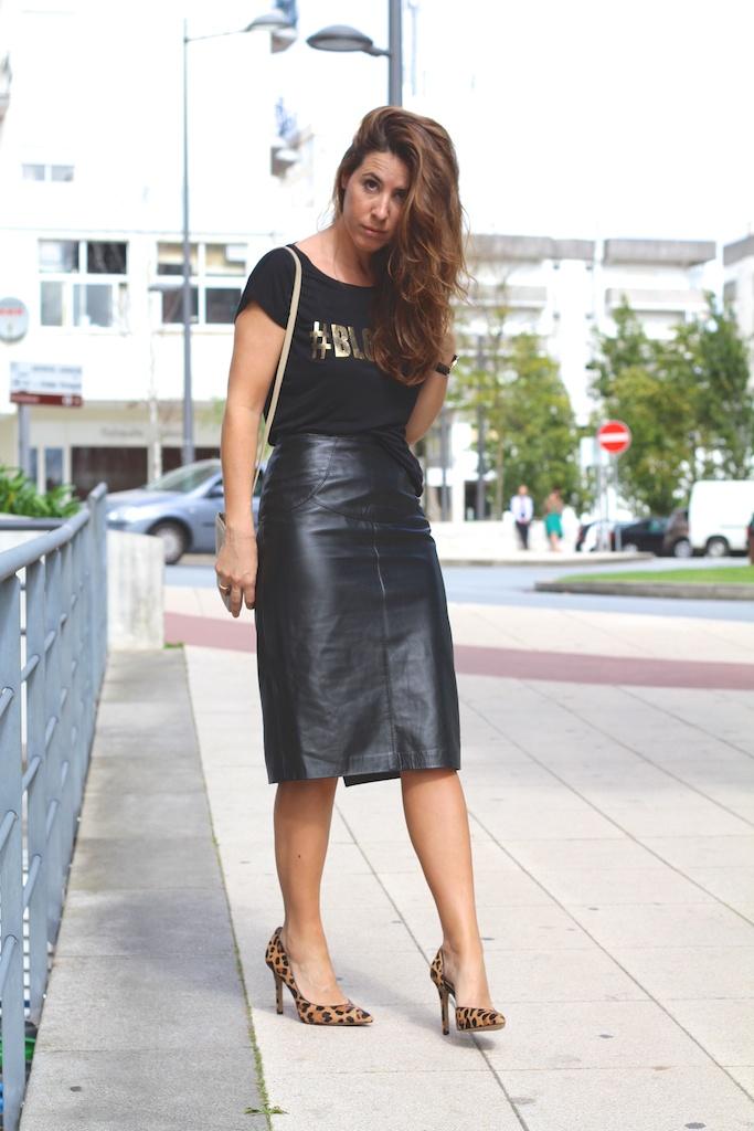 fashion, blogger, heels,leopard, leather,black,Vila, vintage, streetstyle, descalzaporelparque