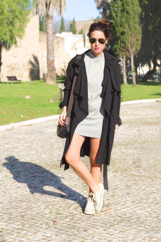 look-outfit-dress-grey-zara-converse-descalzaporelparque