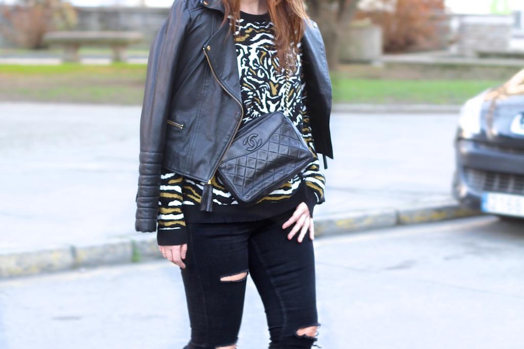 VEROMODA-style-black-leather-heels-chanel-descalzaporelparque-fashionblogger