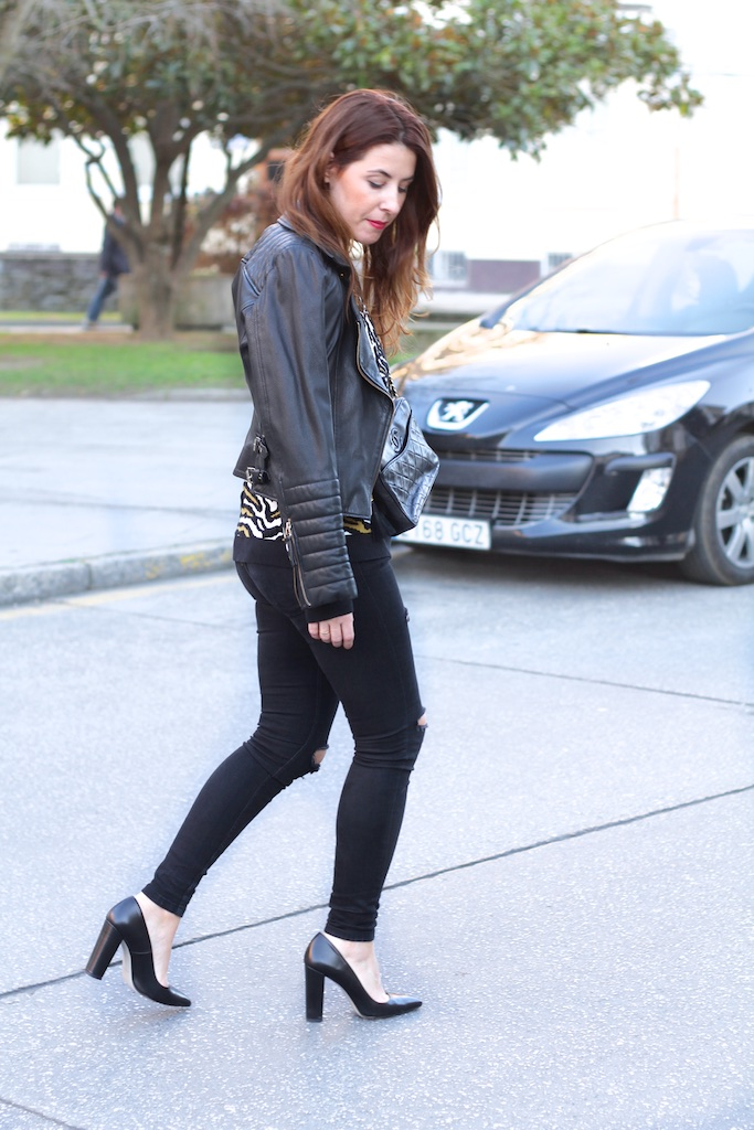 zara-streestyle-black-leather-heels-chanel-descalzaporelparque-fashionblogger