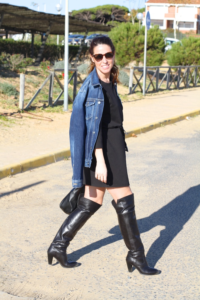 black-dress-vila-clothes-descalzaporelparque