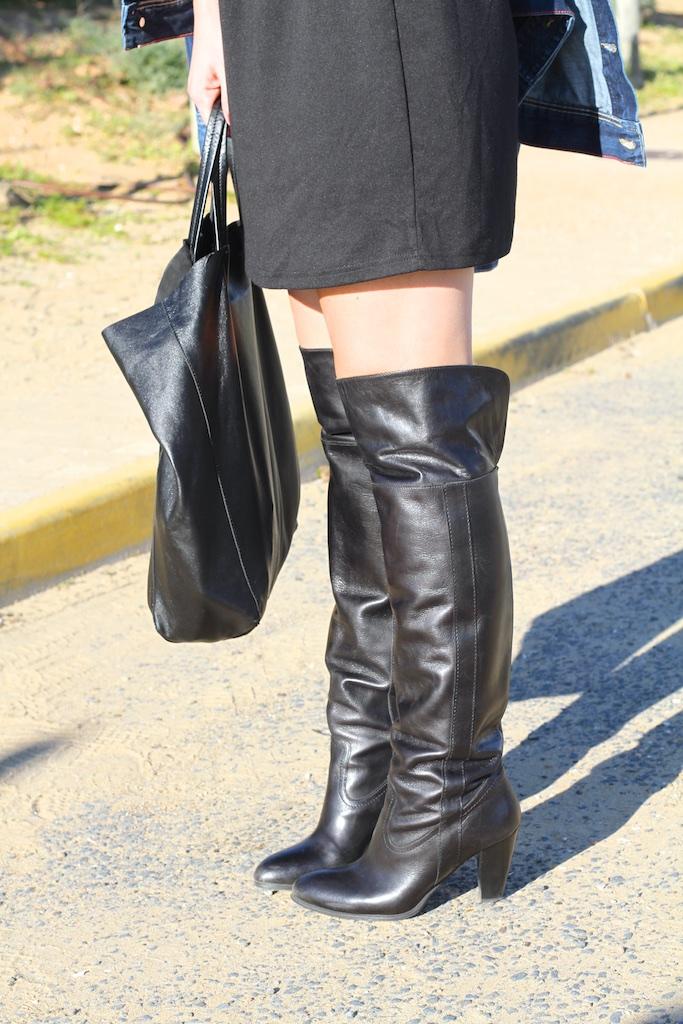 black-boots-krack-descalzaporelparque-cèline -tote-bag