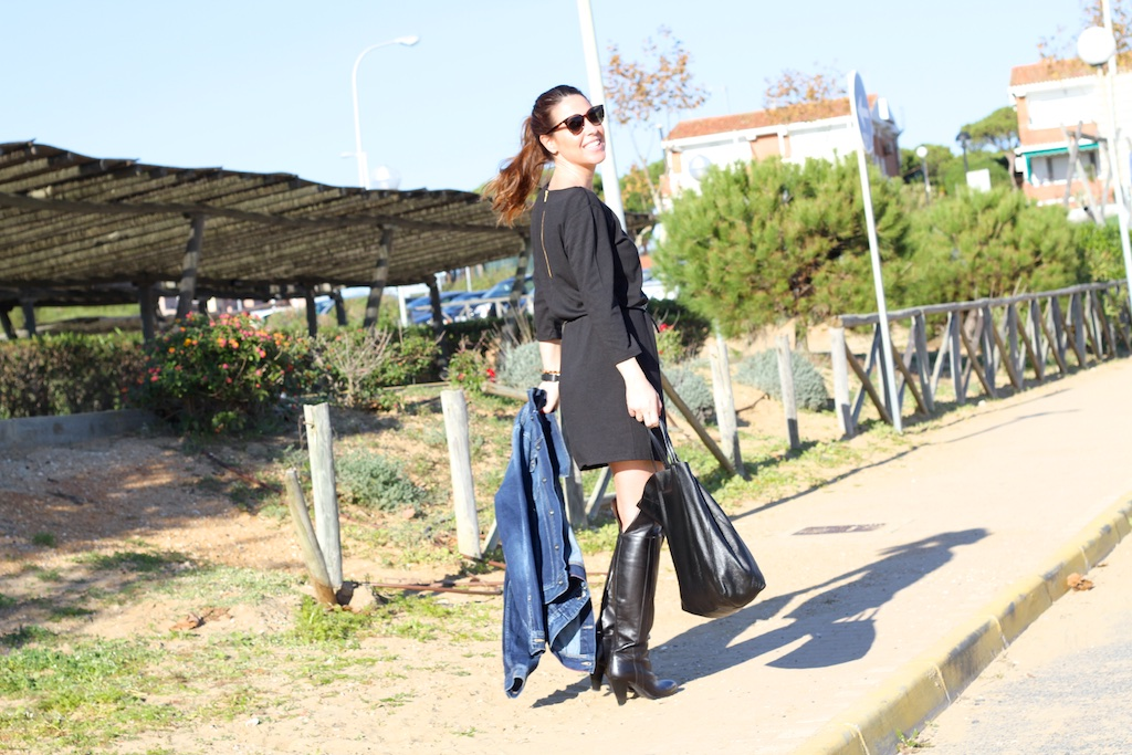 smile-black-dress-VILA-CLOTHES-street-style-descalzaporelparque