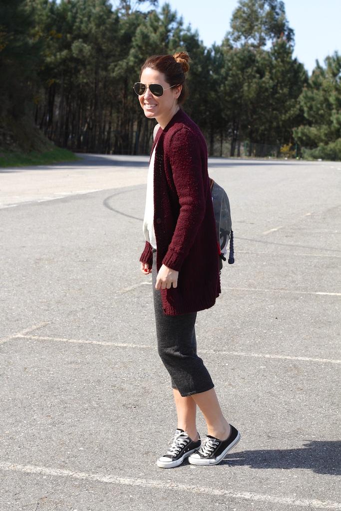 streetstyle-backpack-chanel-tube-skirt-zara-sunglasses-rayban-mommyblogger