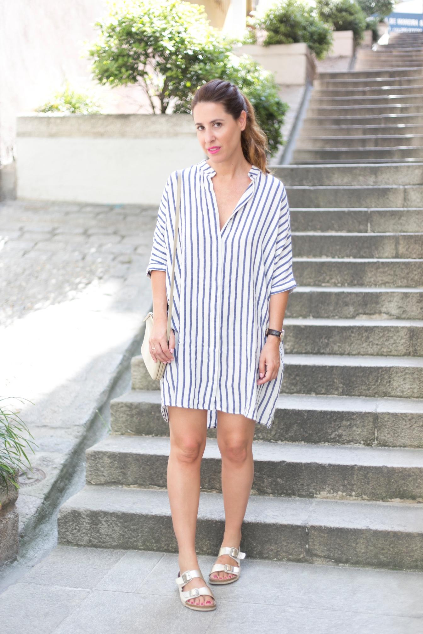 descalzaporelparque-Coruña-moda-estilo-moda-look-rayas-fashionblogger-zara-cèline-oysho