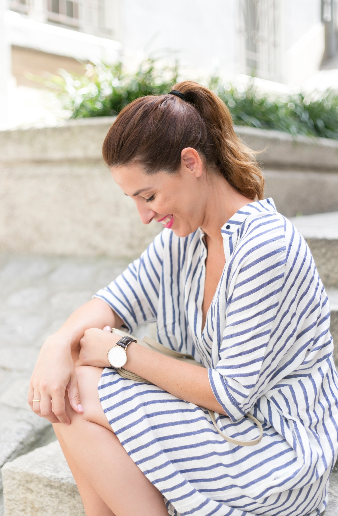 DanielWellington-descalzaporelparque-fashion-mommyblogger-treetstyle-stripes-watch