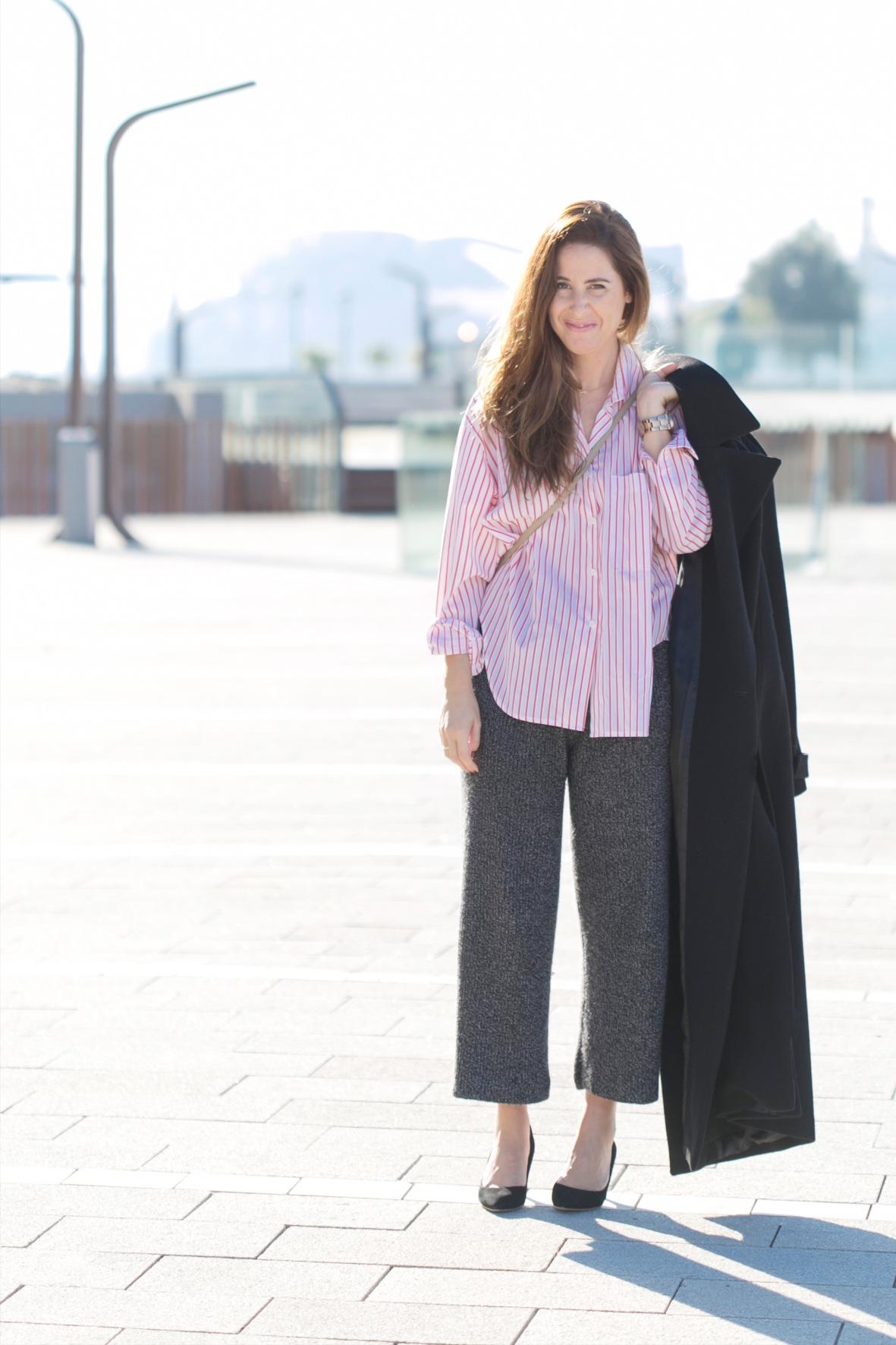 look-marina - abrigo LARGO- coruña-descalzaporelparque-fashion-heels- longcoat-Zara