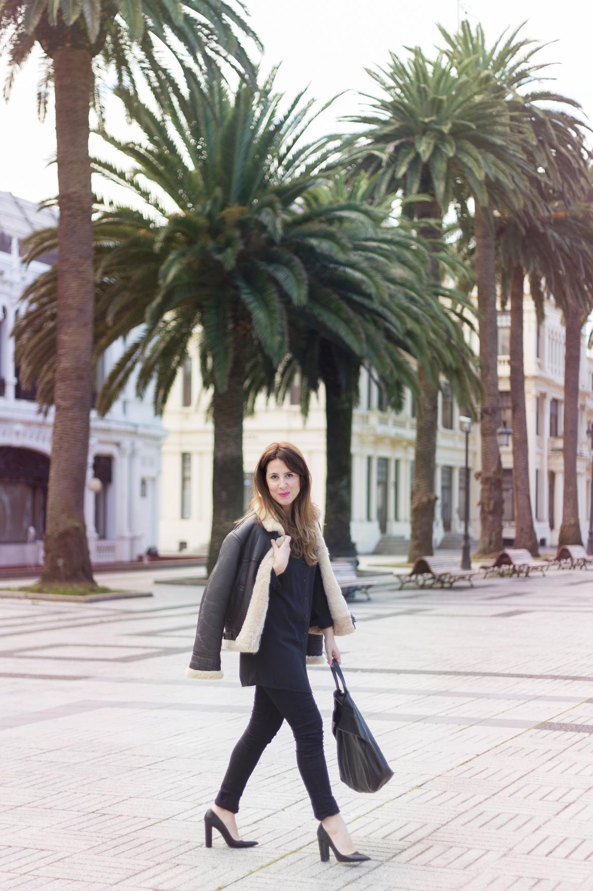 coruña-streetstyle-vila-clothes-cazadora-aviador-cèline-fashion-piel-descalzaporelparque-blogger