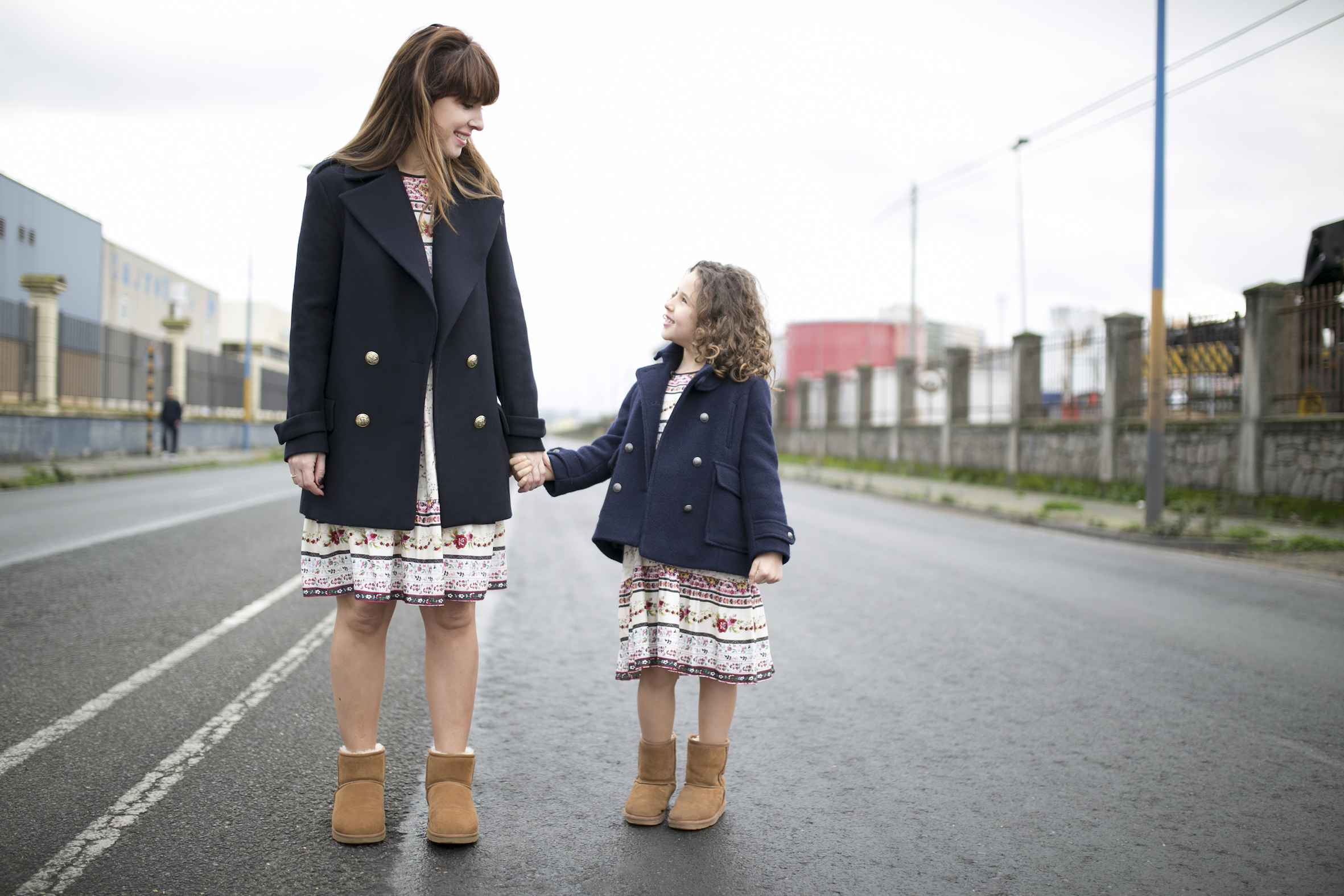 streetstyle-zara-mother-daughter-coruña-Jimena&me-Ugg-Boots-blogger