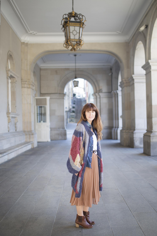 vintage-cardigan-coruña-blogger-descalzaporelparque-streetstyle-cèline
