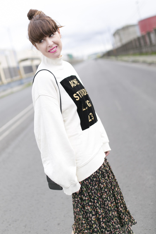 Acne Studios- fashion-streetstyle-blogger-Zara Dress-moda-calle-descalzaporelparque-rebajas Zara