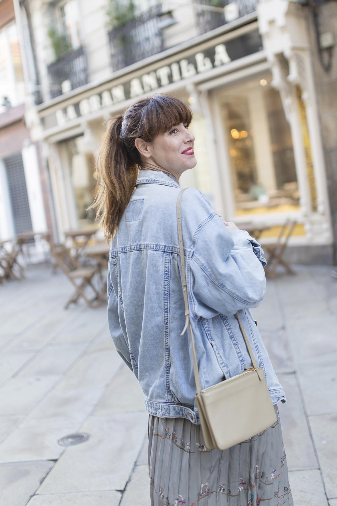 cèline -triobag - denim jacket- streetstyle - coruña - descalzaporelparque -blogger