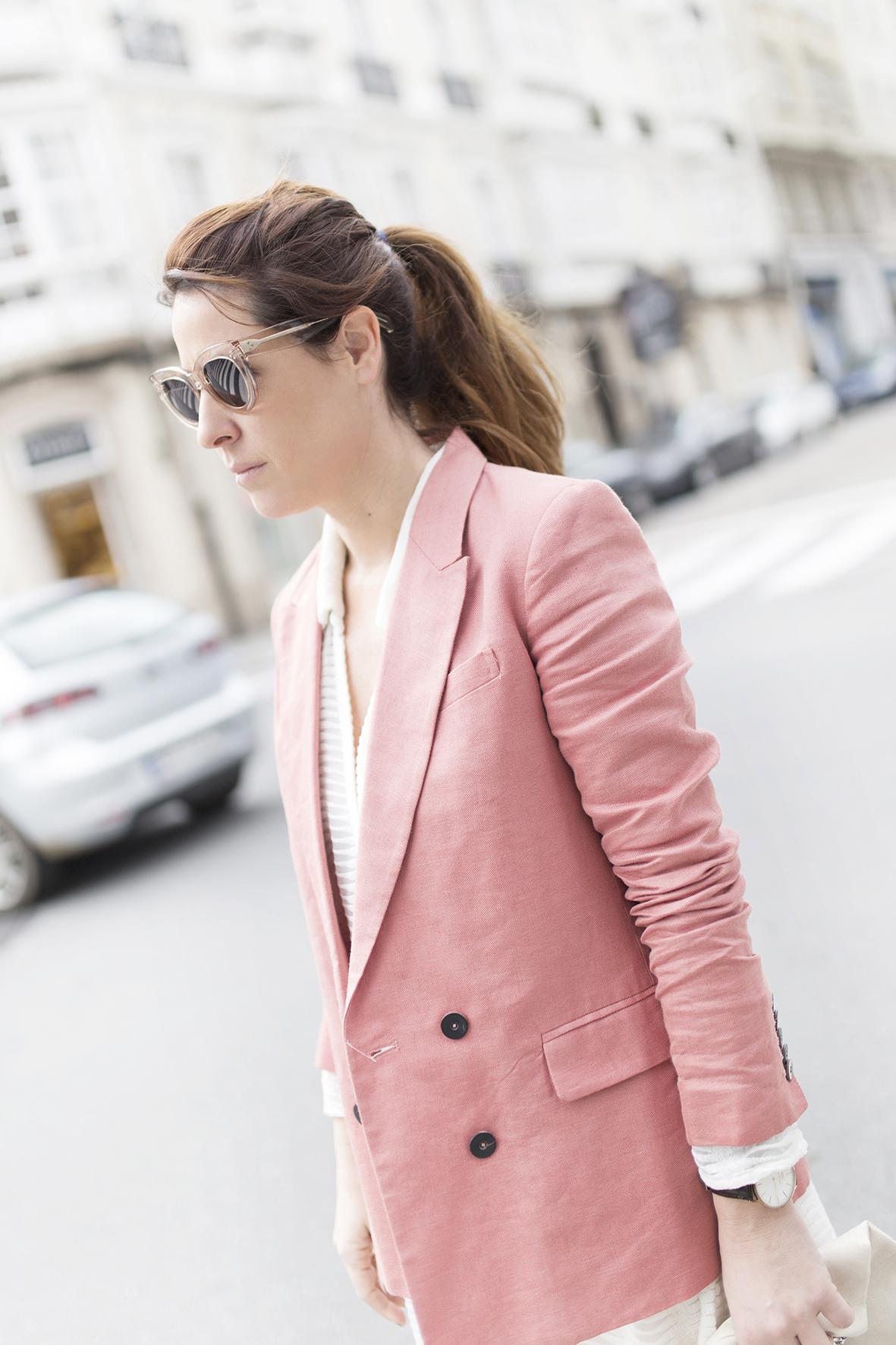 Mango blazer -cèline sunglasses-fashion- Coruña-Voglia-streetstye-descalzaporelparque-Silver Lake Zubi