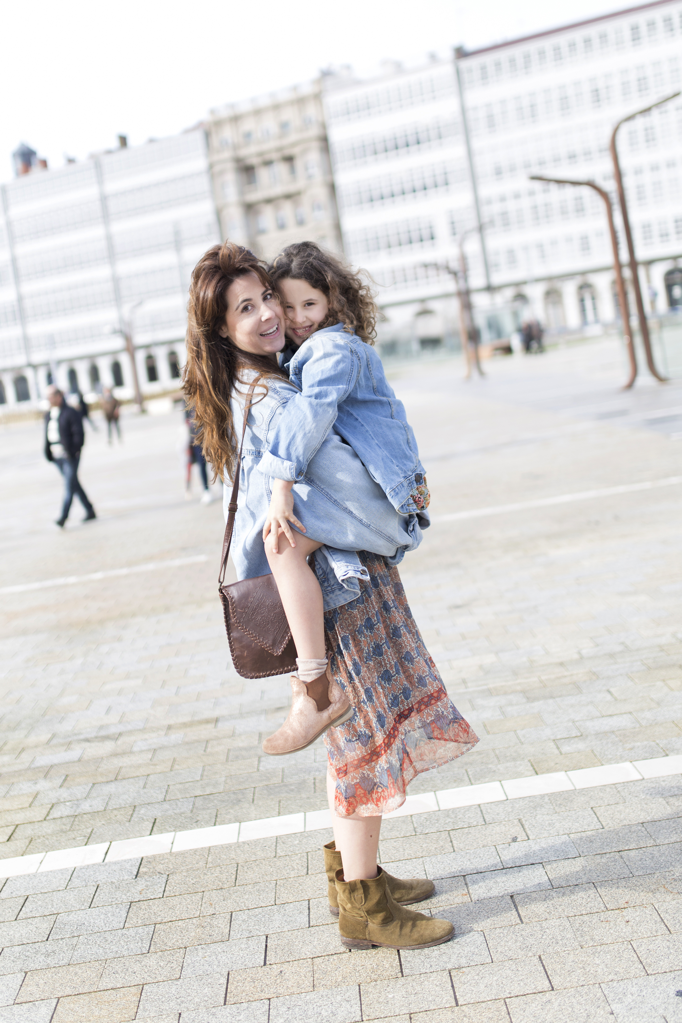 My partner-madre e hija- fashion-moda-street style-jimena&me-mother daughter-promod-zara kids-denim jacket