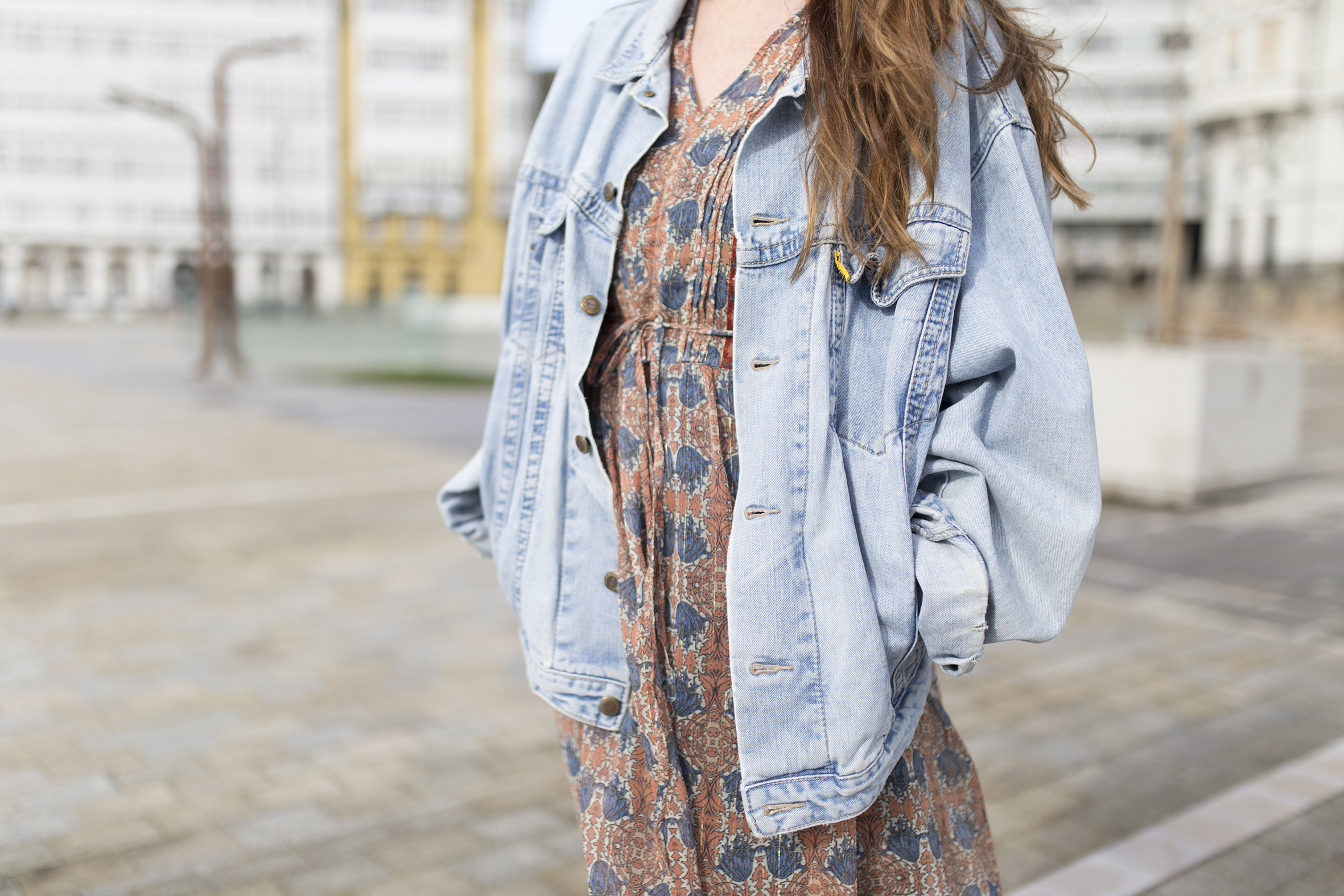 promod-vintage-denim jacket-My partner-fashion-moda-street style-descalzaporelparque