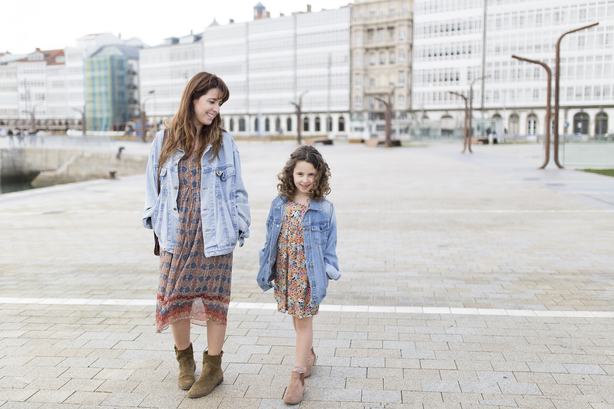 My partner-street style-jimena&me-mother daughter-promod-zara kids-denim jacket
