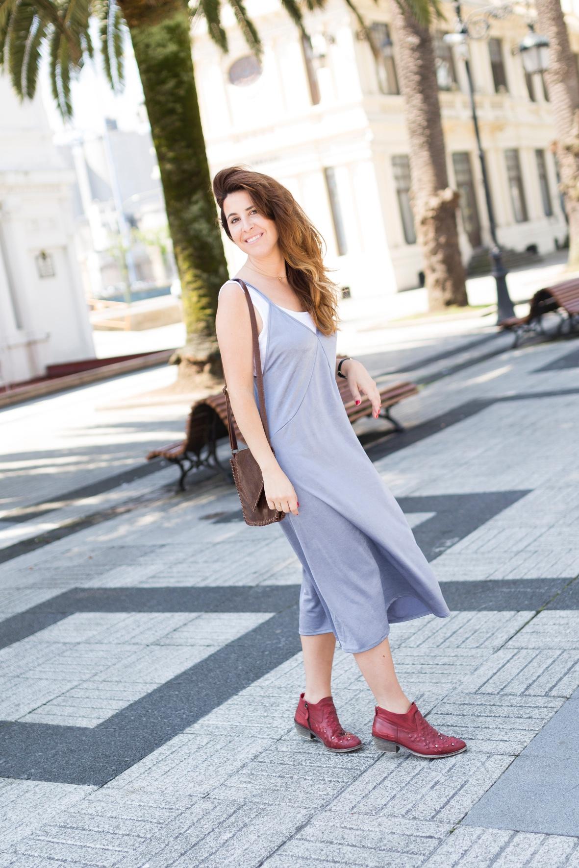 ootd-descalzaporelparque-vestido-botines- zara -streetstyle-moda -calle-coruña-dress-style-urban outfitters- bag