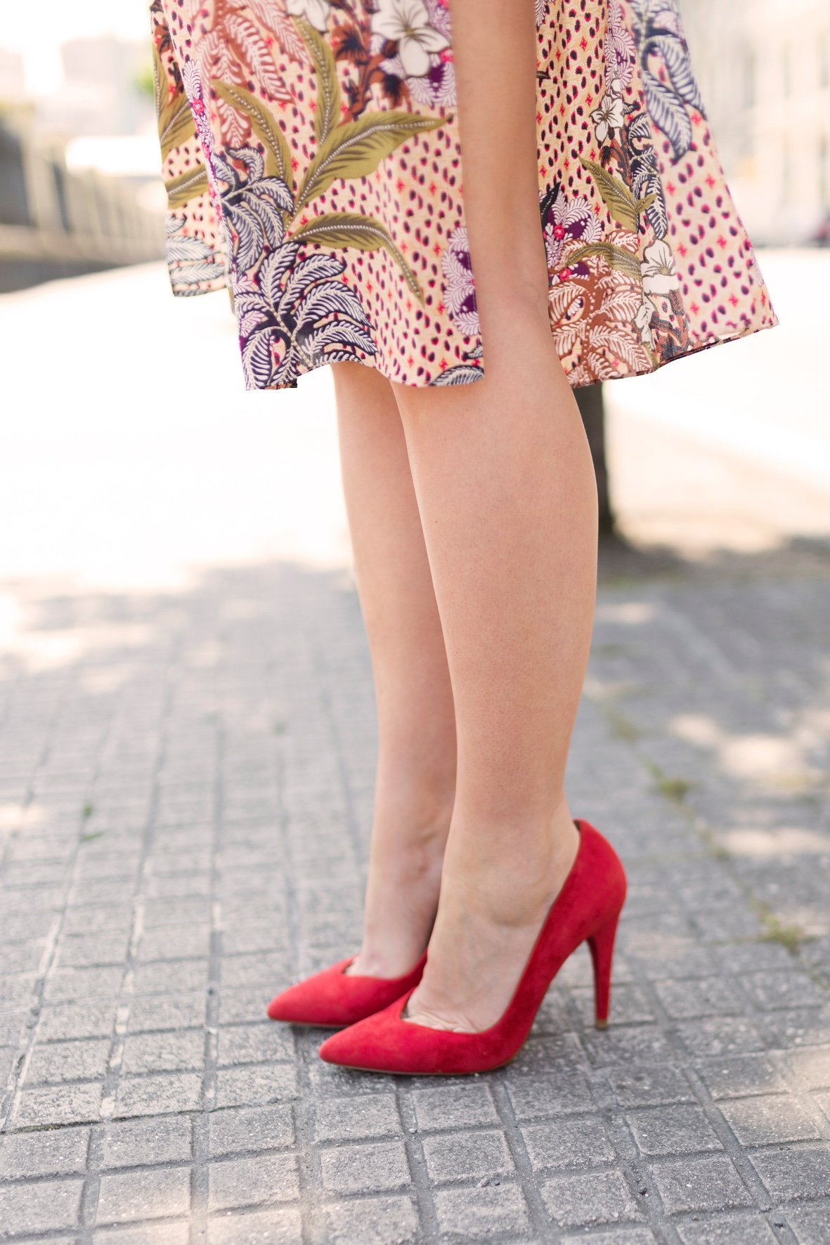 heels-red-tacón rojo· cèline bag · coruña ·cèline -dress · street · trió bag · zara