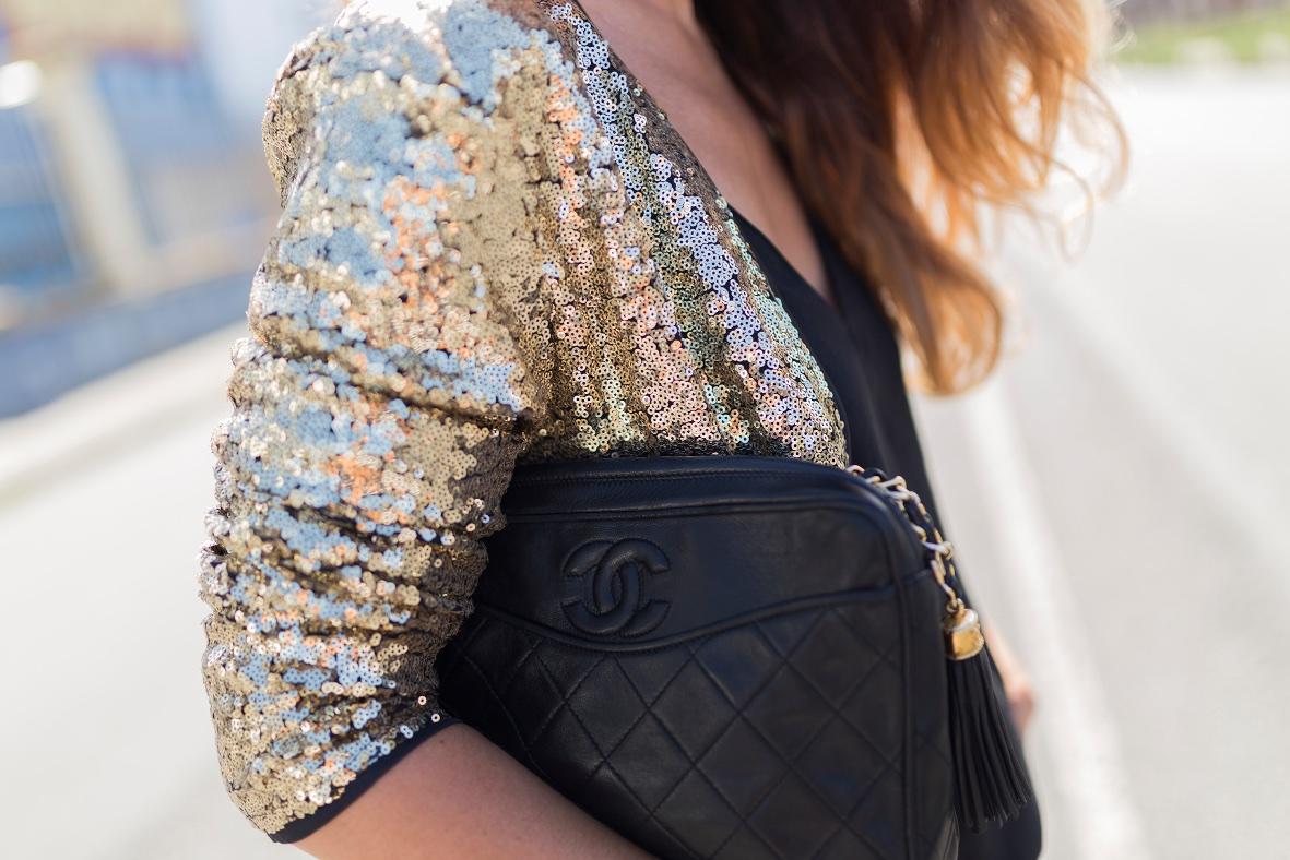 alba cuesta-sequined Coat- SHEIN-cazadora lentejuelas- fashion- blogger-style- sytreetstyle-chanel-coruña-descalzaporelparque- alba cuesta- look- style- ootd