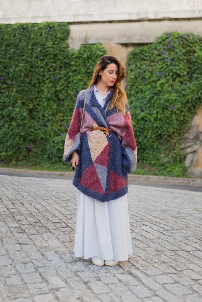 chaqueta de lana - Vintage & Coffee - vintage- Zara - moda - coruña - fashion - blogger , style , moda calle , streetstyle - denia priegue - video - vintage - sneakers isabel marant - zara - Celine trio bag - celine bag - descalzaporelparque