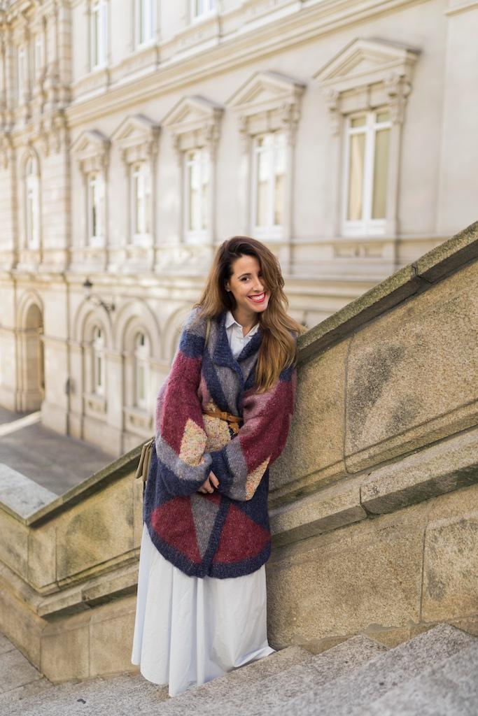 alba cuesta-Celine trio bag - celine bag - descalzaporelparque- alba cuesta-chaqueta de lana - Vintage & Coffee -vintage- Zara - moda - coruña - fashion - blogger , style , moda calle , streetstyle - denia priegue - video - vintage - sneakers isabel marant - zara