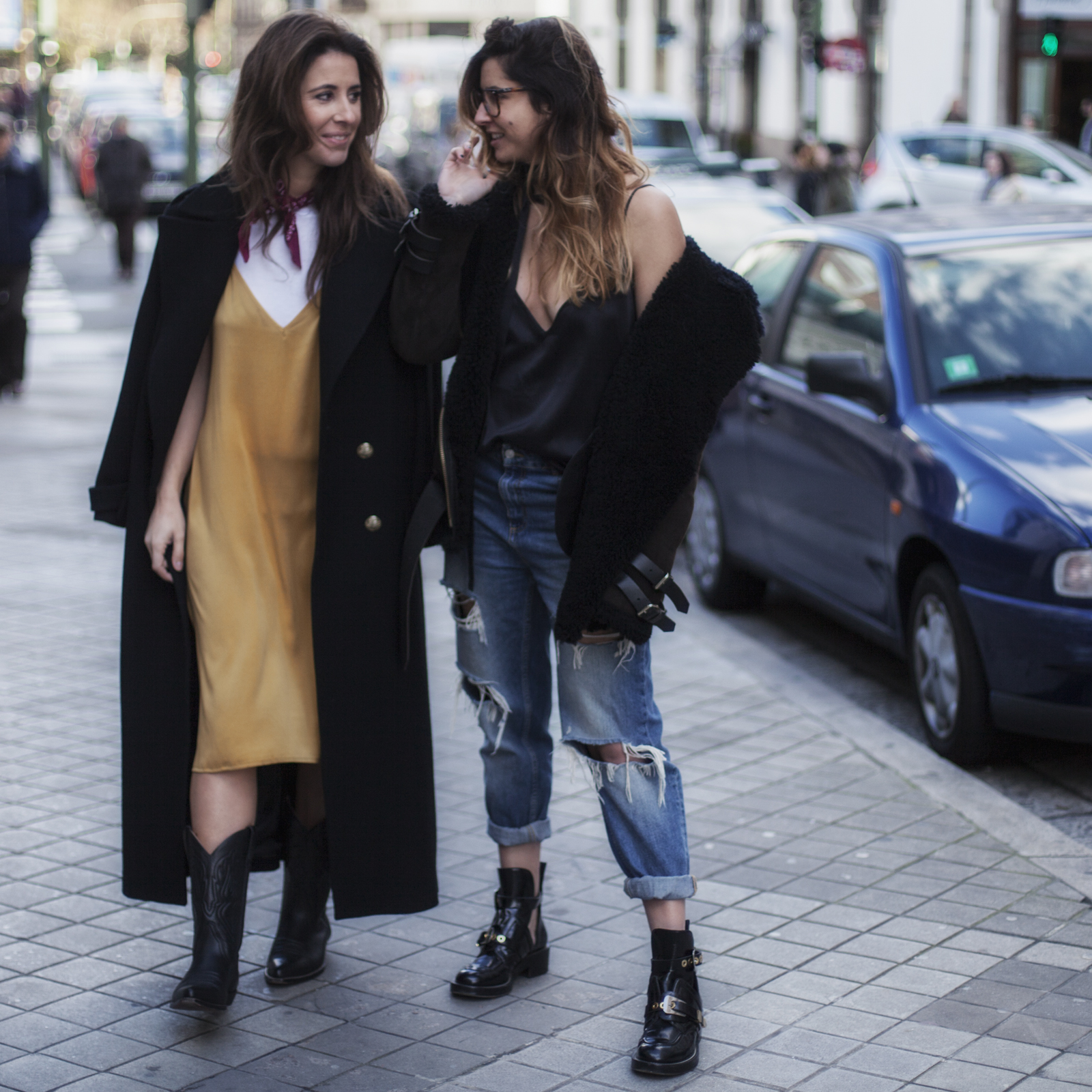 you and me-bloggers-streetstyle-fashion-street-moda en la calle-silk-dress-coruña-moda gallega-descalzaporelparque
