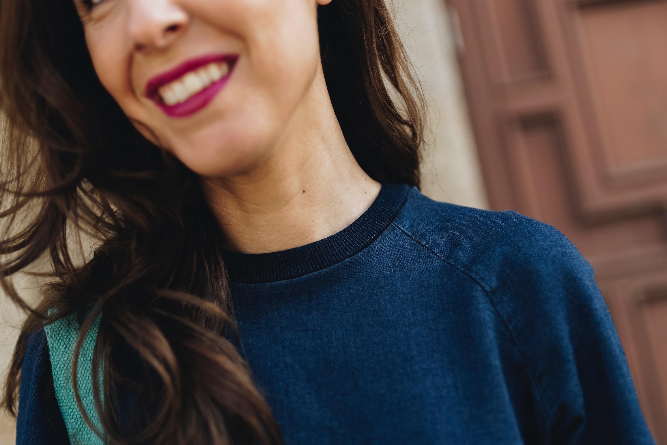 vestido vaquero-zara-fashion-blogger-coruña-descalzaporelparque-smile
