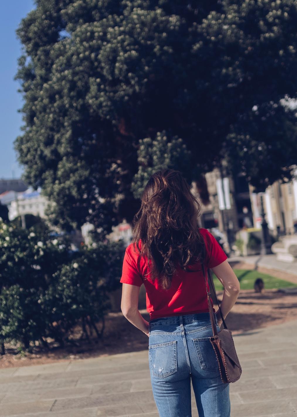 alba cuesta-mezclas imposibles- rojo y rosa- look of the day- style- streetstyle- coruña-descalzaporelparque- stylelovely- zara- vintage