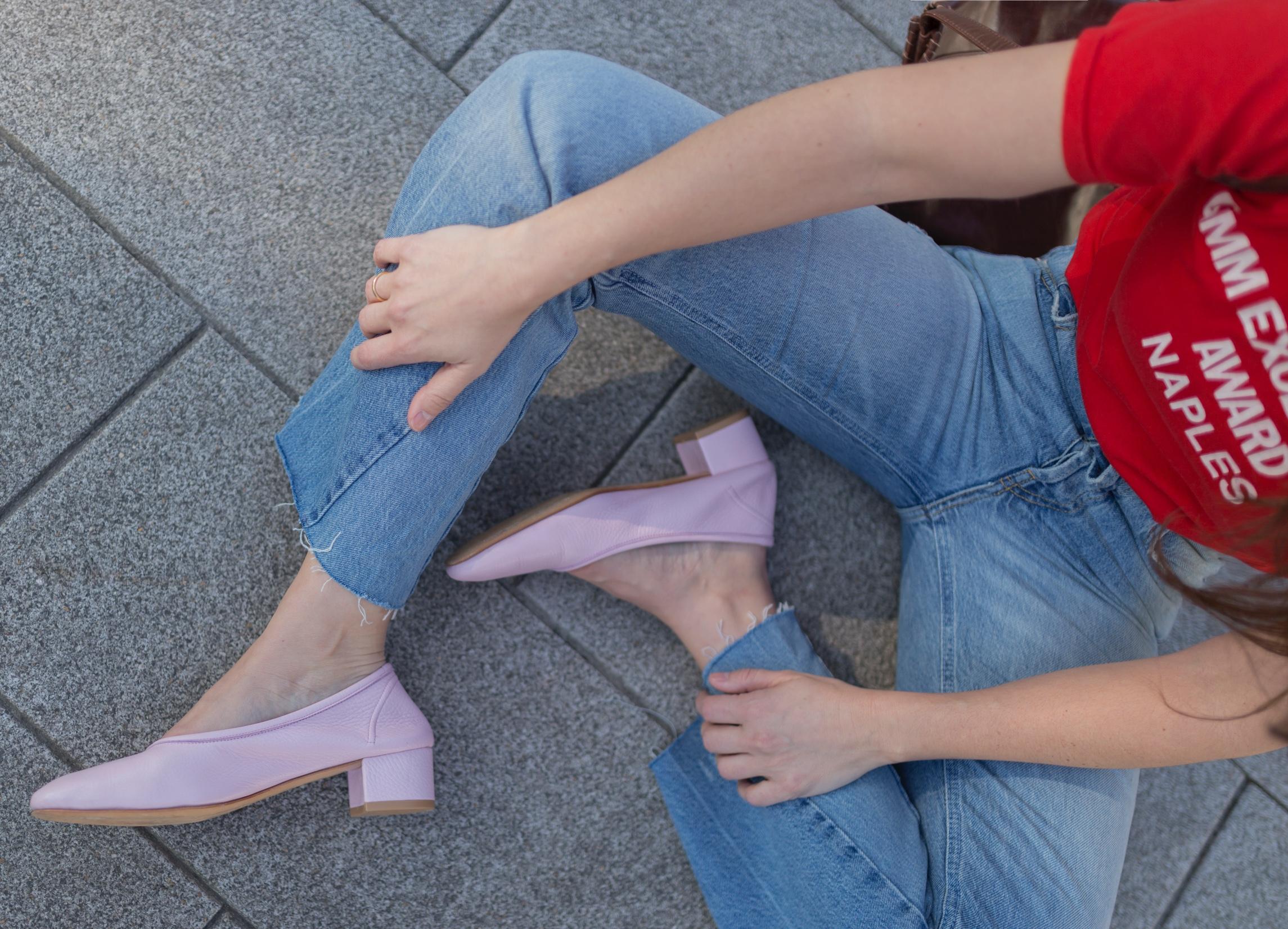 zapatos rosas-mezclas imposibles- rojo y rosa- look of the day- style- streetstyle- coruña-descalzaporelparque- stylelovely- zara- vintage
