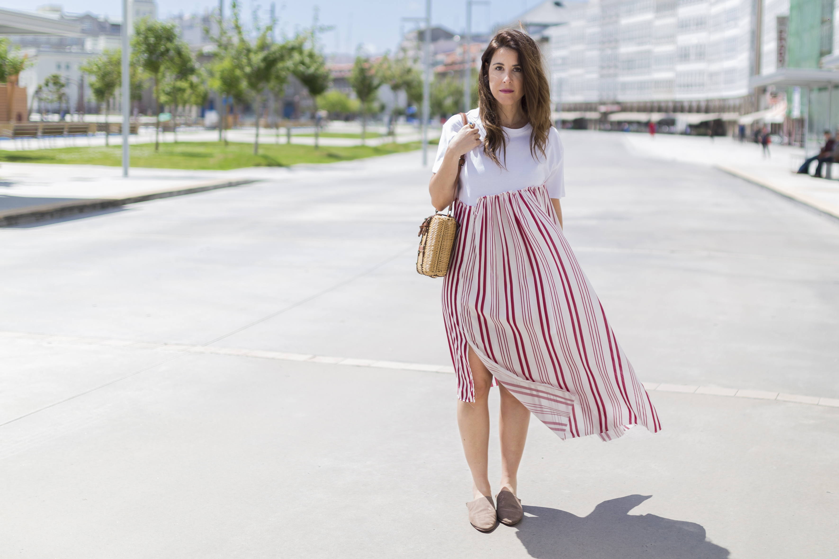 alba cuesta · babuchas · blogger · blanco · descalza look · estilista · fashion · marruecos · outfit · rayas · street style · zara-look
