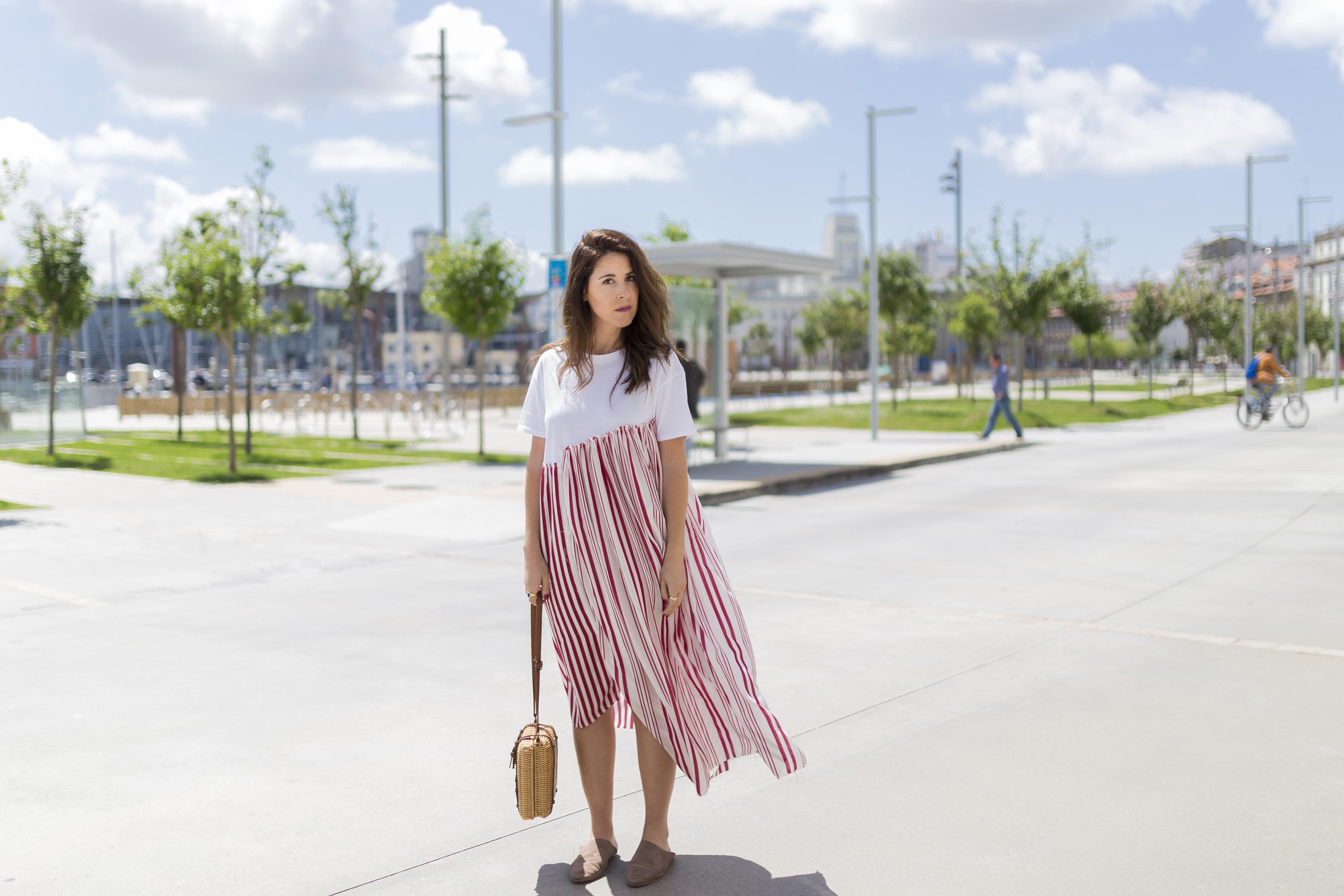 moda- alba cuesta · babuchas · blogger · blanco · descalza look · estilista · fashion · marruecos · outfit · rayas · street style · zara